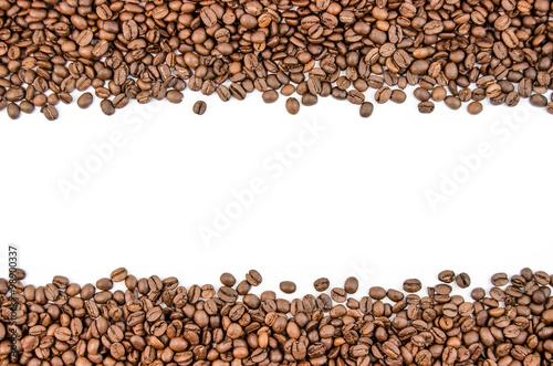 Papiers peints Café en grains Fragrant coffee beans in large quantities