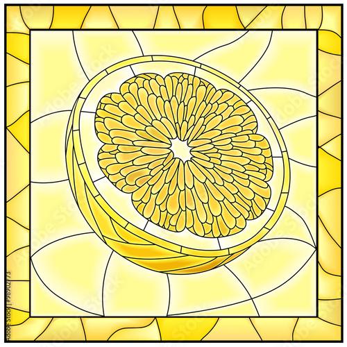 wektorowa-zolta-ilustracja-owocowa-zolta-cytryna