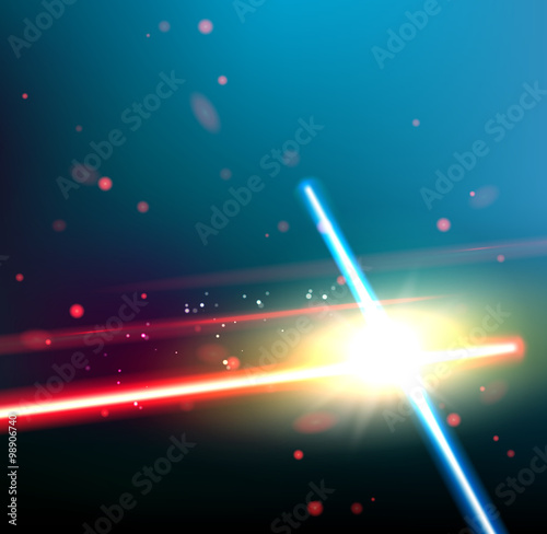 Photographie Two laser rays.