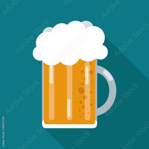 Beer icon design Canvas Print