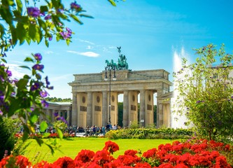 Fototapeta Porte de Brandebourg, Brandenburg Gate, Brandenburger Tor, Berlin, Germany