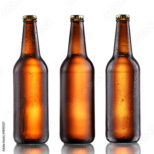 Full beer bottles set