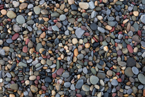 Láminas  Pebbles on Bracelet Bay on the Gower peninsula, Swansea, UK.