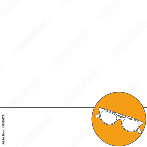 77366040e4c10 Modern vector Illustration pictogram of sunglasses. Abstract Creative  concept