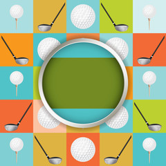 Obraz na Szkle Golf Vector Golf Tournament Illustration