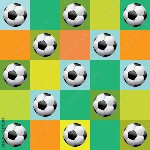 Photo  Vector Soccer Pattern Illustration