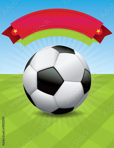 Vector Soccer Tournament Design Canvas Print