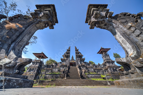 Photo  Gates to Pura Besakih Balinese  temple