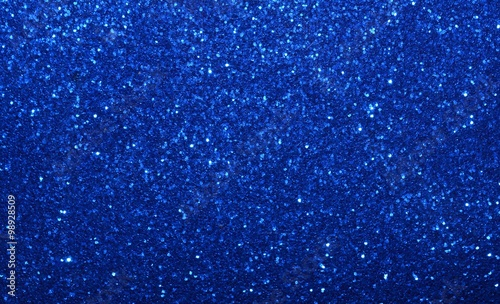 Sparkling glittering twinkling festive shiny blue abstract background, backdrop.