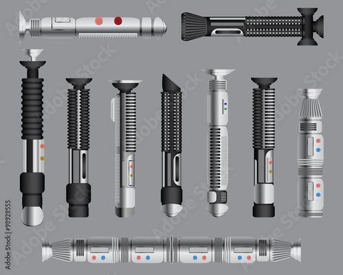 Photographie  Light swords handles set