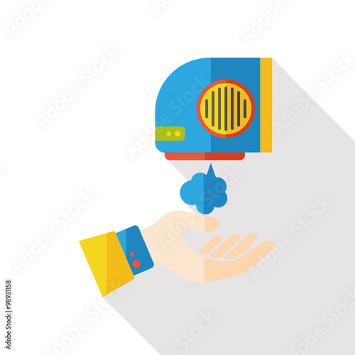 Aluminium Prints Superheroes Hand Dryer flat icon