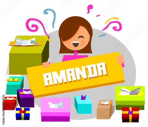 Celebration gift for Amanda Wallpaper Mural