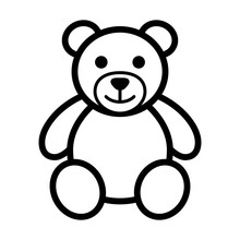 Teddy Bear Plush Toy Line Art ...