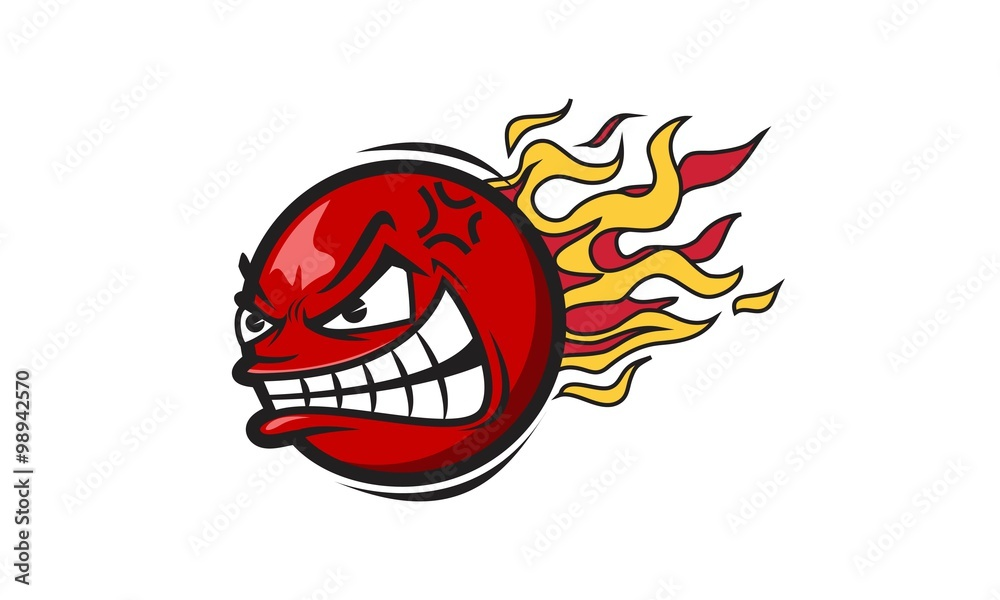 Fototapeta Dodgeball Mascot