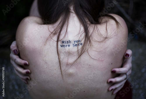 Photo wish you were here -skin tattoo