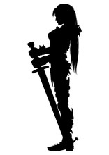 Guardian Knight Woman Silhouet...