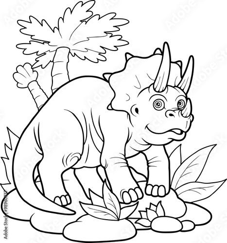 Tuinposter triceratops
