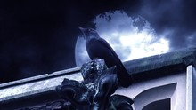 Dark Fantasy Horror Raven Perched On Tower