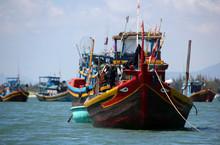 Fishing Boats In Mui Ne. Vietnam