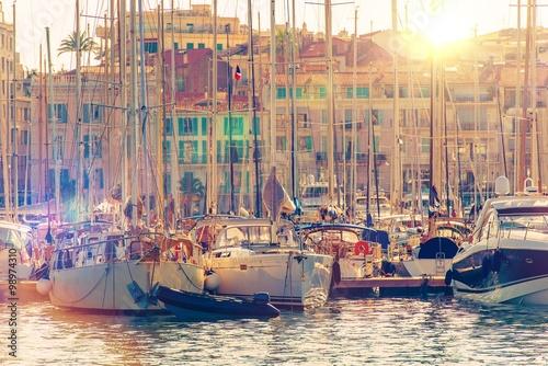 Fototapeta Cannes Marina francouzské Riviéře