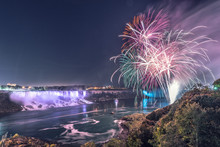 Fireworks In Niagara Falls At ...