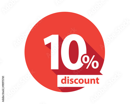 Fotografía  10 percent discount  red circle