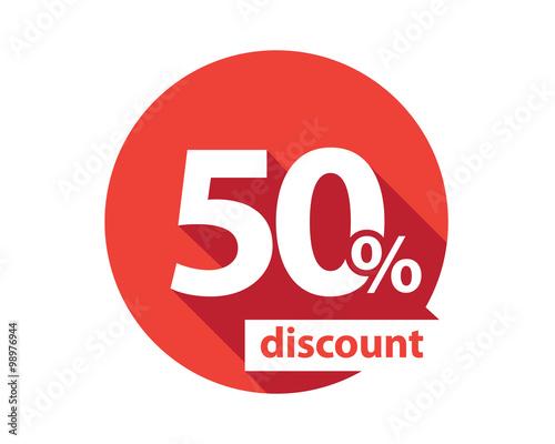 Papel de parede  50 percent discount  red circle