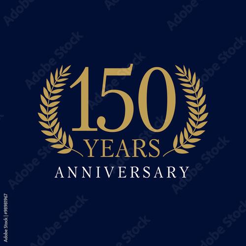 150 anniversary royal logo Tableau sur Toile
