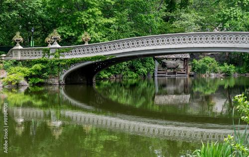 Stampa su Tela New York City Central Park Bow Bridge
