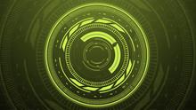 Green Turbine Warm Portal HUD User Interface