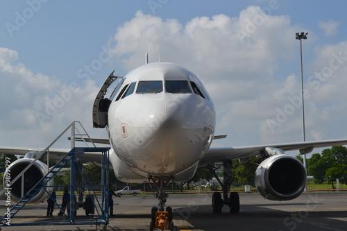 Türaufkleber Flugzeug Airplane