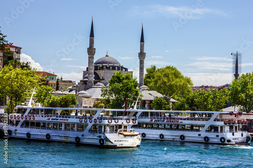 Canvas Prints Turkey Panorama of Istanbul seafront, Turkey.
