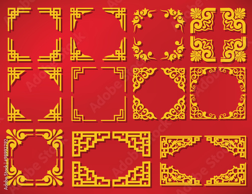 vector china new year frame Wallpaper Mural