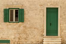 Building With Green Door