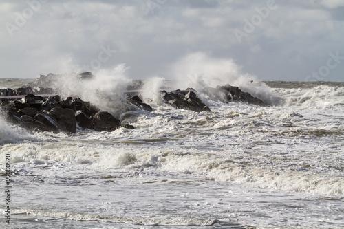 Nordsee Buhne Hvide Sande Dänemark