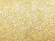 Golden Glitter Texture For Abstract Background