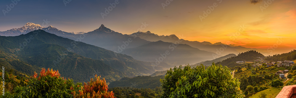 Fototapety, obrazy: Sunrise over Himalaya mountains