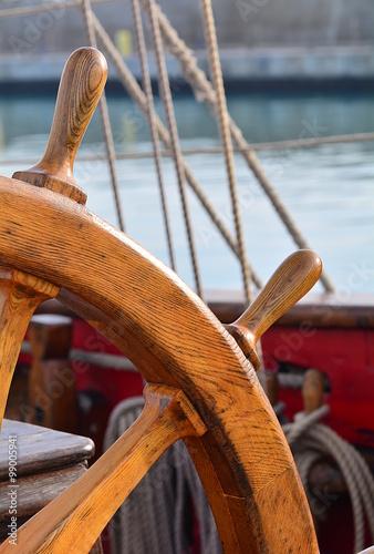 The helm of an old sailing ship © liberowolf