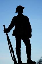 World War One Soldier Statue I...