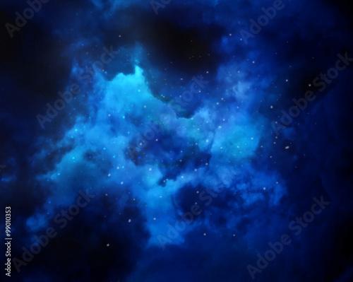 Night sky with stars and nebula
