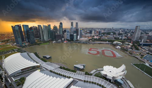 Photo  Marina bay in Singapore