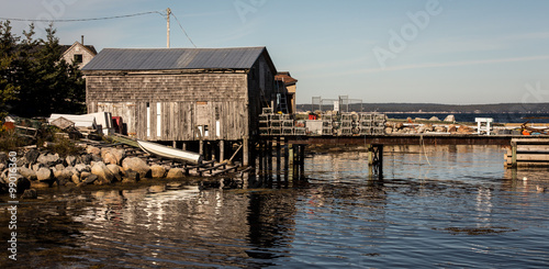 Photo  fishing shack and wharf