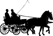 Horse And Carriage Vector