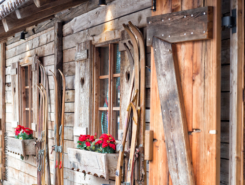 Fotografie, Obraz  Ski Hütte