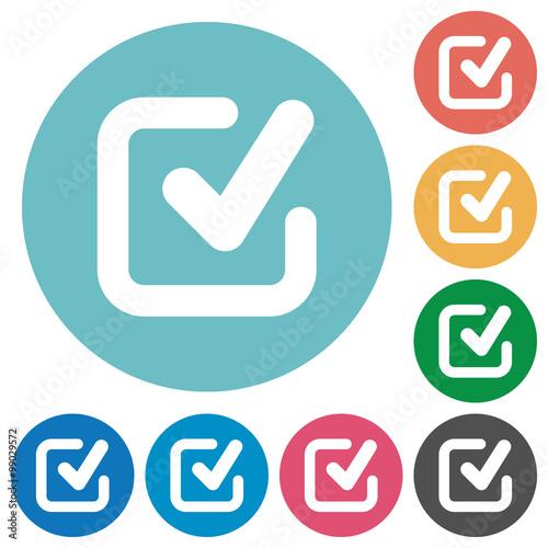 Fotografie, Obraz  Flat checkmark icons
