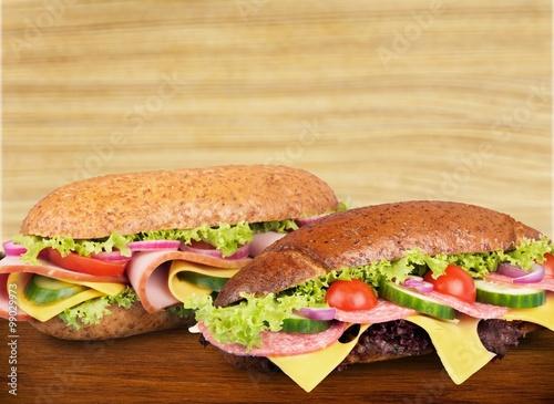 Staande foto Snack Sandwich.