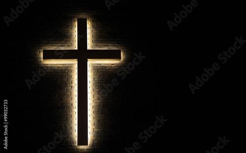 Fotografía Lighted Cross Background