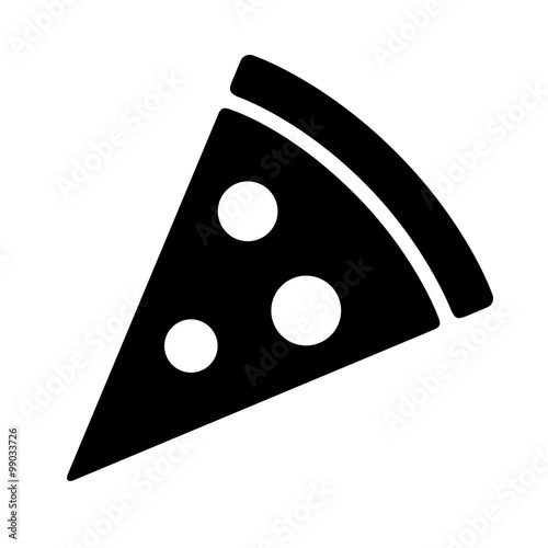 Photo Pizza slice with pepperoni flat icon for apps and websites