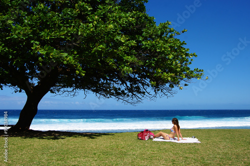 Photo La Réunion - Baigneuse à Grande Anse