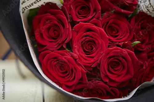 バラの花束 Fototapet